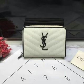 サンローラン(Saint Laurent)のイヴサンローラン 折り財布 Vステッチ 新品☆ ホワイト(折り財布)
