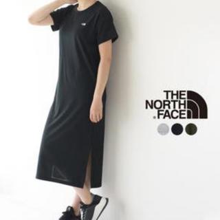 ザノースフェイス(THE NORTH FACE)のザ・ノース・フェイス ショートスリーブワンピース 黒 サイズL(ロングワンピース/マキシワンピース)
