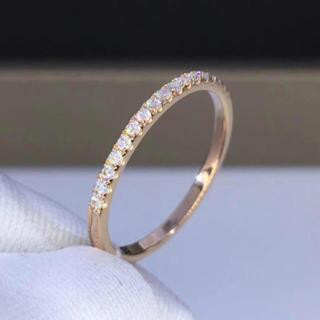 エタニティ モアサナイト  k18ピンクゴールド リング(リング(指輪))