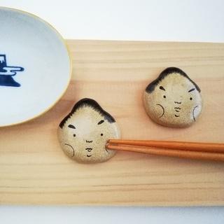 お相撲さん 箸置きセット 勇ましい(キッチン小物)