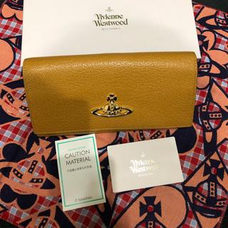 Vivienne Westwood - EXECUTIVE  フラップ付きがま口財布(キャメル)