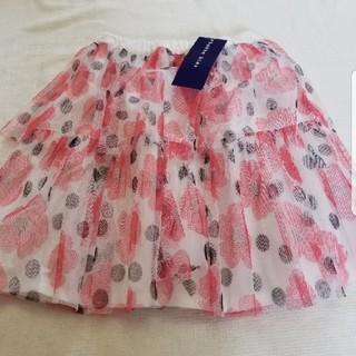 hakka kids - ハッカ140サイズお花プリントシフォンフレアースカート