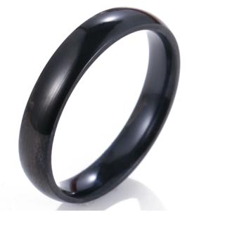 シンプルなファッションリング(ブラック)(リング(指輪))