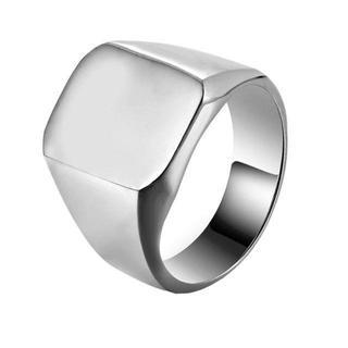 メンズ ステンレス高品質チタン リング卒業 記念贈り物シンプルシルバー人気(リング(指輪))