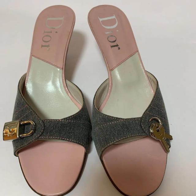 Christian Dior(クリスチャンディオール)の正規品Dior デニム サンダルミュール(鑑定済) レディースの靴/シューズ(サンダル)の商品写真