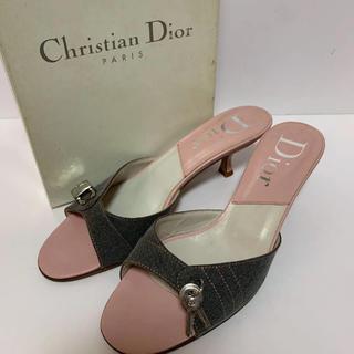 クリスチャンディオール(Christian Dior)の正規品Dior デニム サンダルミュール(鑑定済)(サンダル)