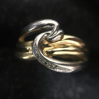 k18 指輪 コンビ デザインリング(リング(指輪))