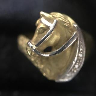 k18 馬 デザイン 指輪(リング(指輪))