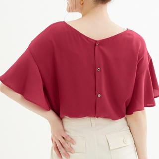 ジーユー(GU)の新品完売♡バックボタンブラウス(シャツ/ブラウス(半袖/袖なし))