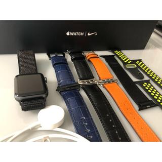 アップルウォッチ(Apple Watch)のApple Watch Series 2 Nike+ 42mm スペースグレー(腕時計(デジタル))