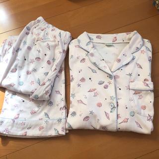 tutuanna - レディース パジャマ かわいい 貝殻 ピンク 長袖
