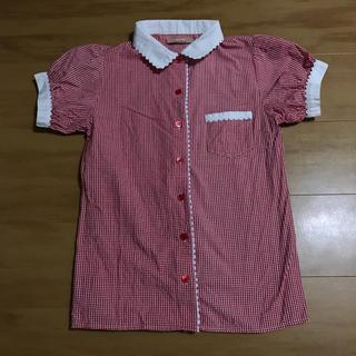 ダズリン(dazzlin)のdazzlin 赤チェックブラウス(シャツ/ブラウス(半袖/袖なし))