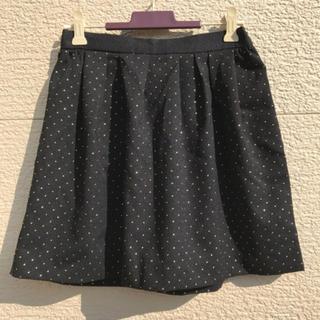 イエナスローブ(IENA SLOBE)の新品 IENA SLOBE イエナスローブ  スカート 黒 ブラック 36(ミニスカート)