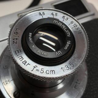 ライカ(LEICA)のLeica Elmar 5cm f3.5 戦前エルマー  フード付き(レンズ(単焦点))