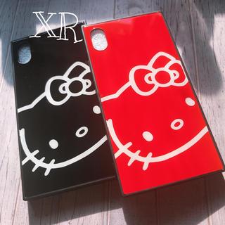ハローキティ - スクエア型˚✩*キティiPhoneガラスケース