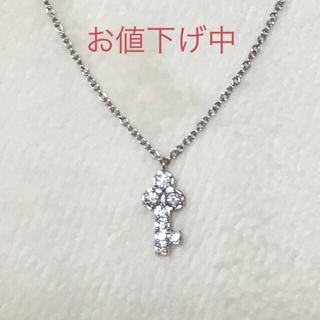 ヨンドシー(4℃)のK18 WG ダイヤモンド ネックレス(ネックレス)