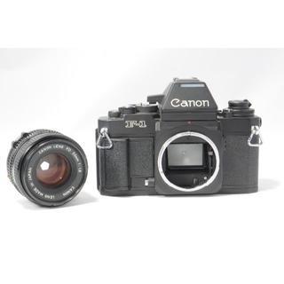 キヤノン(Canon)のCanon キャノン F-1 ブラックボディ FD 50mm 1:1.8(フィルムカメラ)