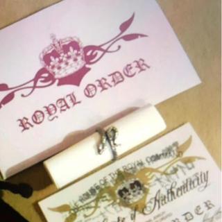 ロイヤルオーダー(ROYALORDER)の最後価格 美品 ジャスティンデイビスロイヤルオーダスネーク リング 3号(リング(指輪))