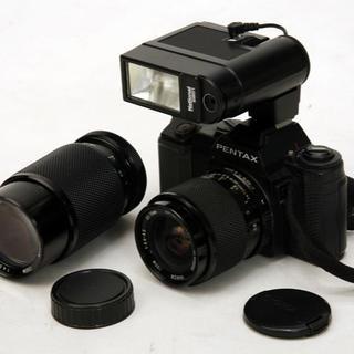 ペンタックス(PENTAX)の動作確認済 PENTAX ペンタックス A3 レンズ ストロボ付(フィルムカメラ)