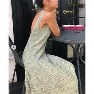 juemi  Heather Knit Pleats Dress