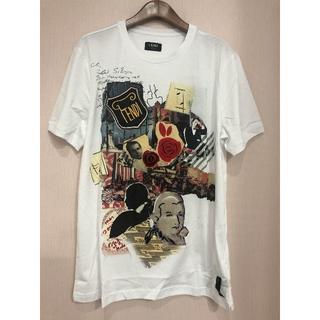 フェンディ(FENDI)の FENDI メンズ ホワイト カール 2019AW Tシャツ(Tシャツ/カットソー(半袖/袖なし))