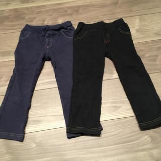 ブラック&ネイビーパンツセット100サイズ