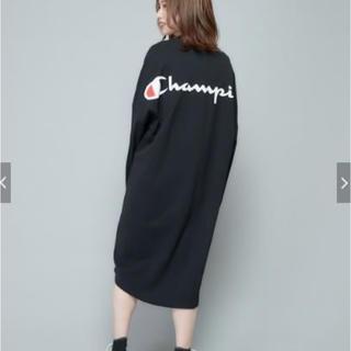 Champion - 19AW【Champion/チャンピオン】ドロップテールバックプリントワンピース