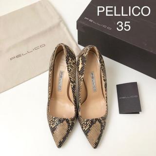PELLICO - 美品 ★ ペリーコ パイソン柄パンプス ★ 35 アンドレア
