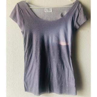 ウンナナクール(une nana cool)のLunch ランチ 薄手 Tシャツ グレー(Tシャツ(半袖/袖なし))