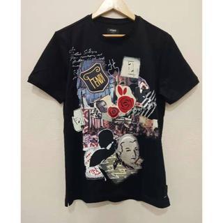 フェンディ(FENDI)のFENDI 19AWカール コラージュ コレクション プリントTシャツ(Tシャツ/カットソー(半袖/袖なし))