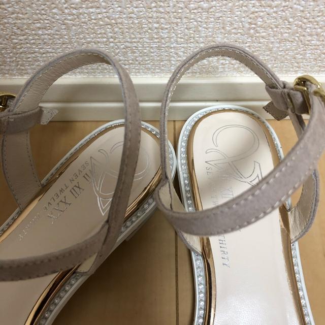 VII XII XXX(セヴントゥエルヴサーティ)の2019年 今期 V セブントゥエルブサーティー ビジューヒールサンダル M レディースの靴/シューズ(サンダル)の商品写真