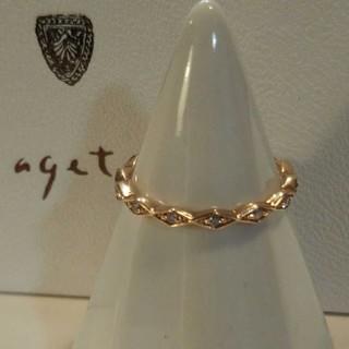 agete - 確認用❕アガット K10 リング 11号 ダイヤモンド ひし形 美品