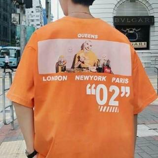 大人気♪QUEEN オーバーサイズ ゆったりTシャツ バックプリント ストリート(Tシャツ/カットソー(半袖/袖なし))