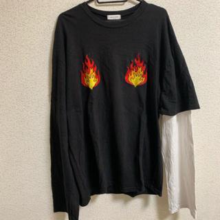 シュプリーム(Supreme)のSALON ロンT ファイアー 切り返し モード ストリート(Tシャツ/カットソー(七分/長袖))
