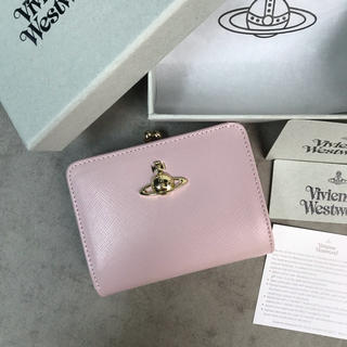 Vivienne Westwood - ◆新品未使用◆Vivienne Westwoodがま口 二つ折り財布◆ピンク