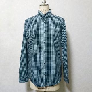 エイチアンドエム(H&M)の【美品】H&M メンズ長袖ギンガムチェックシャツ(シャツ)