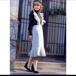 エイミーイストワール(eimy istoire)の❤️【送料込】eimy☆ ショルダーフリルマーメイドチェックワンピース (ひざ丈ワンピース)