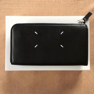Maison Martin Margiela - 定価11万新品 マルジェラ エンボス カレンダーロゴ 長財布 黒 18AW
