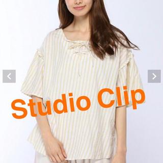 スタディオクリップ(STUDIO CLIP)のStudioCLIP スタジオクリップ  2WAYレースアップフレアブラウス(シャツ/ブラウス(半袖/袖なし))