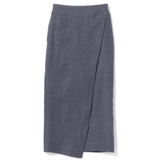 極美品 リネンタイトスカート GREY 36
