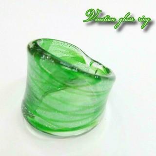 VR49 縞模様 ベネチアン ガラス リング ベネチアリング 指輪(リング(指輪))