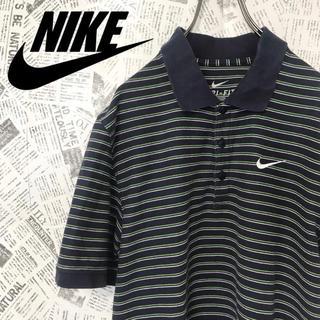 ナイキ(NIKE)の90s NIKE ナイキ ポロシャツ スウォッシュロゴ マルチボーダー(ポロシャツ)
