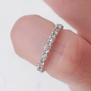 ホワイト ゴールド ダイヤ ピンキーリング(リング(指輪))