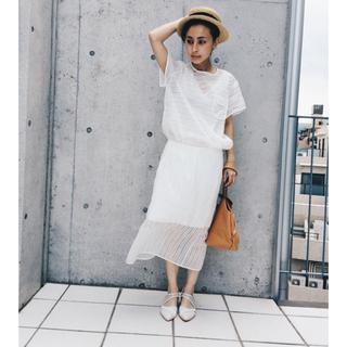 アメリヴィンテージ(Ameri VINTAGE)のameri vintage ストライプシースルースカート(ひざ丈スカート)