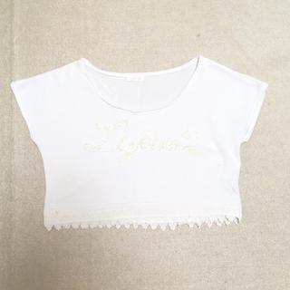 リズリサ(LIZ LISA)のロゴ ショート丈 Tシャツ(Tシャツ(半袖/袖なし))