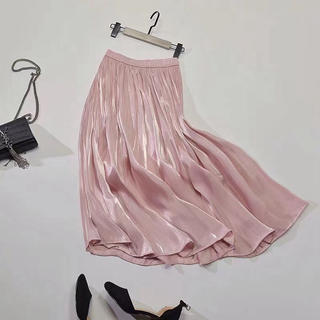 dholic - シルキープリーツロングスカート