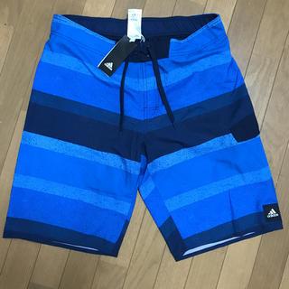 adidas - adidas アディダス ボーダー柄 メンズ水着 XO ブルー サーフパンツ