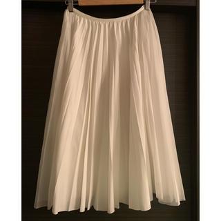 ドゥロワー(Drawer)のsecret closet cyclas プリーツスカート 白 ドゥロワー  (ひざ丈スカート)