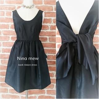 Nina mew - 日本製*Nina mew*ニーナミュウ【試着程度】後ろリボンワンピース