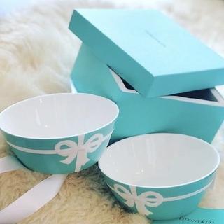 ティファニー(Tiffany & Co.)の【TIFFANY&CO.】ティファニーブルーボックスボウルペア2個セット食器お皿(食器)
